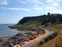 Scarborough Coastal Erosion Stock Images