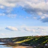 Scarborough coastline view, England Stock Photos
