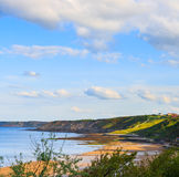 Scarborough coastline view, England Royalty Free Stock Photos