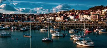 Scarborough-Hafen, North Yorkshire stockbild