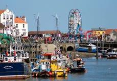 Scarborough hamn i England arkivfoto