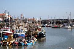 Scarborough hamn, Yorkshire royaltyfri fotografi
