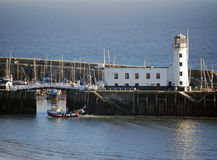 Scarborough harbor Stock Photo