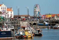 Scarborough harbor in Summer Stock Image