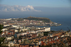 Scarborough Harbour. From Olivers Mount Stock Image