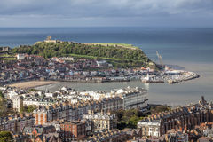 Scarborough Harbour from Olivers Mount Royalty Free Stock Photography