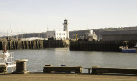 Scarborough lighthouse Royalty Free Stock Image