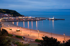 Scarborough at night. Stock Photos