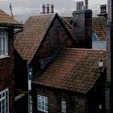 Scarborough North Yorkshire wybrzeża EnglandDark brąz Obraz Royalty Free