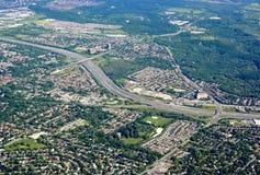 Scarborough Ontario, aéreo Imágenes de archivo libres de regalías