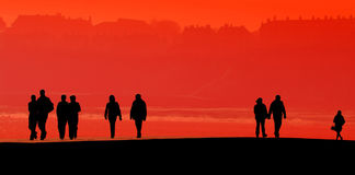 Scarborough people silhouette Royalty Free Stock Image