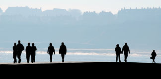 Scarborough people silhouette Royalty Free Stock Photography