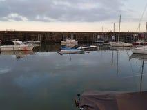 Scarborough Pier Harbour del oeste imagen de archivo