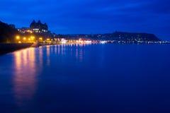 Scarborough południe zatoki noc Fotografia Royalty Free