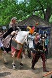 Scarborough Rennaissance Faire: Angemessenes Mädchen Lizenzfreie Stockbilder