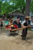 Scarborough Rennaissance Faire: Fairy in Rickshaw Royalty Free Stock Photos