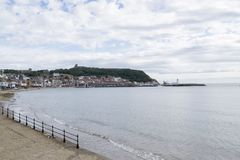 Scarborough södra fjärd, North Yorkshire, England, Förenade kungariket royaltyfri foto