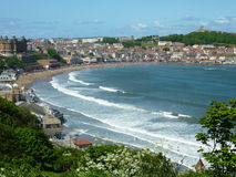 Scarborough seaside resort. View of the seaside resort of Scarborough, North Yorkshire Stock Image