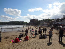Scarborough seaside on a sunny Sunday afternoon Royalty Free Stock Photography