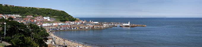 Scarborough South Bay Panorama Royalty Free Stock Photography