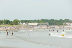 Scarborough strand - Narragansett - Rhode Island royaltyfri fotografi