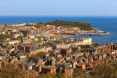 Scarborough town, beach and harbour. Royalty Free Stock Images
