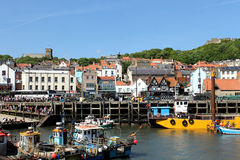 Scarborough town and harbor Royalty Free Stock Photo
