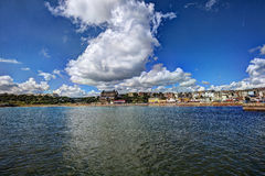 Scarborough. United Kingdom. View for Scarborough from the sea stock image