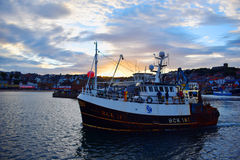 Scarborough vissersboot royalty-vrije stock afbeelding