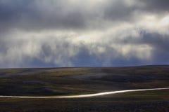 Scarce landscape of cold Arctic desert. Novaya Royalty Free Stock Photography