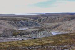 Scarce landscape of cold Arctic desert. Novaya Stock Photography