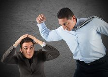 Scare employees Royalty Free Stock Images