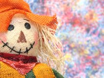 Scarecrow. Portrait of a colorful Scarecrow stock photography