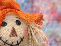 Scarecrow. Portrait of a colorful scarecrow royalty free stock photo
