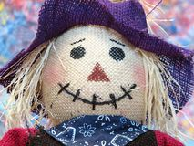 Scarecrow. Portrait of a colorful Scarecrow royalty free stock photography