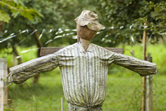Scarecrow. On the plantation field Stock Photos