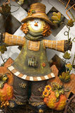 Scarecrow. Details of Thanksgiving wreath with scarecrow royalty free stock photography