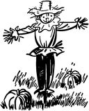 scarecrow 2 vektor illustrationer