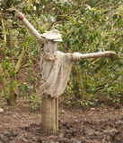 Scarecrow. In a garden in england Stock Image