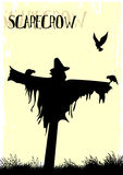 Scarecrow. Vector illustration of a scarecrow Stock Photos