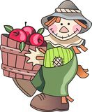SCARECROW WITH APPLES Royalty Free Stock Photos