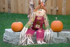 Scarecrow in the Autumn. Royalty Free Stock Photos