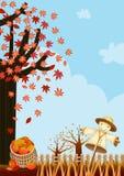 Scarecrow in autumn Stock Photo