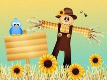 Scarecrow in autumn Stock Photos