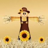 Scarecrow in autumn Stock Photography