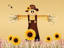 Scarecrow in autumn Royalty Free Stock Images