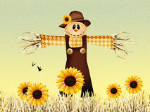 Scarecrow in autumn Royalty Free Stock Photos