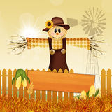 Scarecrow in autumn Stock Images