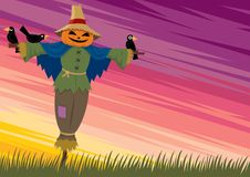 Scarecrow Background 2 Royalty Free Stock Photo