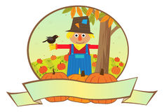 Scarecrow Banner Stock Image